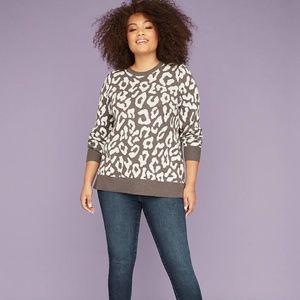 Lane Bryant Graphic sweater Leopard